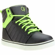 OP Boys' Gray/Yellow Lime  High Top Athletic Sneakers/Shoes: 13-4