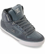 DC Spartan High SE Grey Leather And Nuback Skate Shoes