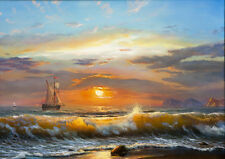 Best gift Ship Sailing Oil painting Art wall Picture HD Printed on canvas FC24
