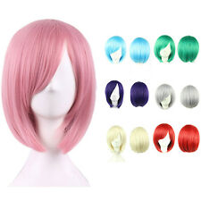 New Women Short Bob Style Straight Fashion Hair Full Cosplay Full Wig Wigs Party