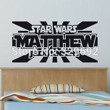 Star Wars Customized Childrens Name Decal Vinyl Text Personalized Wall Sticker