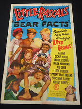 BEAR FACTS R51 * OUR GANG/LITTLE RASCALS * HAL ROACH COMEDY *  ONE SHEET!!