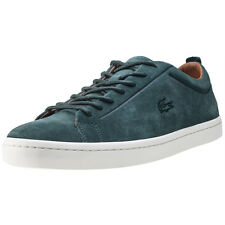 Lacoste Straightset 317 Premium Mens Green Suede Casual Trainers Lace-up