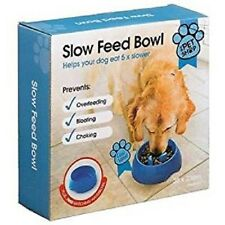 Slow Feed Dog Bowl PLUS FREE WATER BOWL Puppy Pet Stops Bloating Bowl RED BLUE