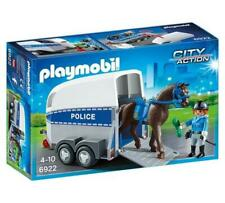 Police with Horse and Trailer - Playmobil Free Shipping!