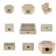 Unpainted Wooden Crafts Jewelry Organizer Box DIY Making Jewelry Display Box