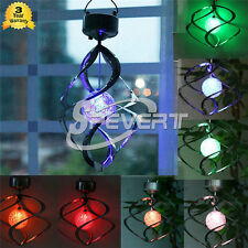 Solar LED Wind Spinner Color Changing Light Garden Yard Courtyard Home Lamp