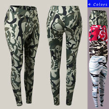 Women's Sports Tight Pants Fitness Jogging Leggings Athletic Camo Yoga Pants