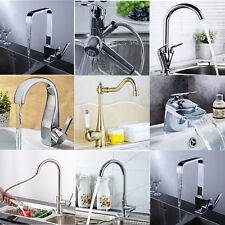 Modern Chrome Brass Faucet Mixer Tap Swivel Spout Single Handle Kitchen Sink AU