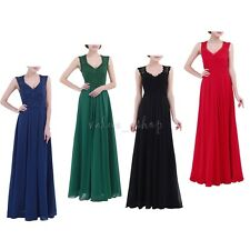 Womens Lace Sleeveless Long Dress Cocktail Evening Party Prom Bridesmaid Gown
