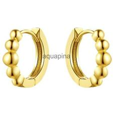 Hot Western Style Round Pattern Imitation Beads Stud Earrings Accessories