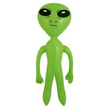 64 CM TALL GIANT JUMBO INFLATABLE GREEN ALIEN BLOW UP SPACE PARTY NOVELTY TOY
