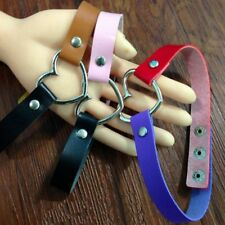 Chain Fashion Punk Rivet Ring Goth Necklace Leather Heart Collar Choker