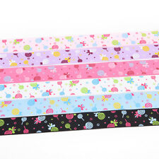 Different size 100 Yards  Printed Grosgrain Ribbon Hair Bow DIY Sewing .*
