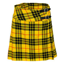"Ladies Knee Length Macleod Of Lewis Kilt Skirt 20"" Length Tartan Pleated"