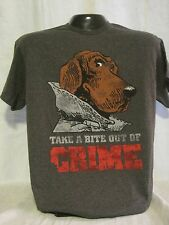 McGruff The Crime Dog T-Shirt Tee Take A Bite Out of Crime Prevention New 18