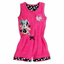 Disney Store Minnie Mouse Princess Polka Dot Deluxe Girls Swimsuit Cover Up New