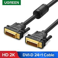 UGREEN DVI Cable DVI-D 24+1 Pin Dual Link Cable DVI Male to Male Fr TV Projector