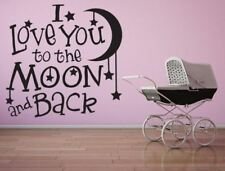 I Love You To The Moon and Back Vinyl Decal, Nursery Wall Decal, Baby Wall Art,