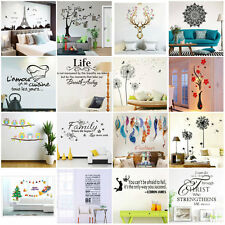 Family Art Home Decor 3D DIY Removable Vinyl Quote Wall Sticker Mural Decal Art
