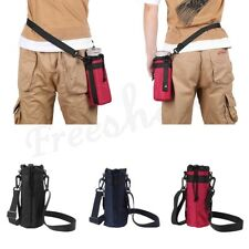 600ml Water Bottle Carrier Insulated Bag Cover Case Pouch Shoulder Strap Holder