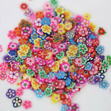 1000X Nail Art 3D Fruit Flower Polymer Clay Slices DIY Decoration Sticker Grand