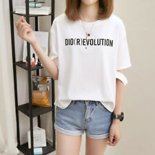 Stylish Women Individual Loose Tops Lady Sexy Short Sleeve Casual Blouse T-Shirt