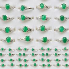 10/20/50Pcs Wholesale Jewelry Lots Alloy Big Gem Stone Silver Plated Rings