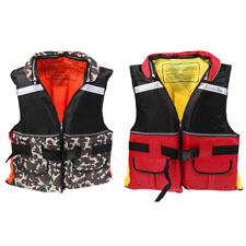 Camo/Red Adult Buoyancy Life Jackets Vest Outdoor Swimming Fishing Kayaking