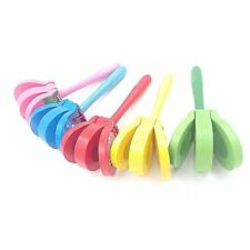 Lovely Cartoon Wooden Castanets Baby Musical Toys Bright Colors for Gifts SM