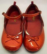 "Gap Girls Red Sparkle Patent Shoes Size 7 Mary Jane's EUC 6"" From Heel To Toe"