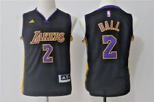 Lonzo Ball #2 Los Angeles Lakers Unisex Youth JERSEY S,M,L,XL BLACK ~NWT~