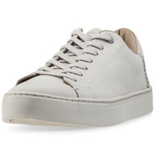 Toms Lenox Mens Beige Leather & Suede Casual Trainers Lace-up Genuine Shoes