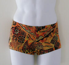 MENS Low Rise Square Cut Swimsuit in Gold Chagall Print:S-M-L-XL
