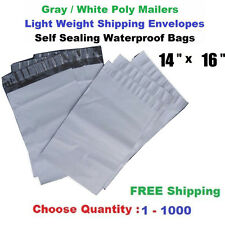 "14""x 16"" Poly Mailers Shipping Envelopes Self Sealing Plastic Mailing Bags 1-500"