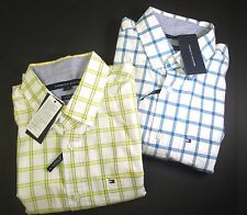 Tommy Hilfiger mens long sleeve plaid casual shirt white blue/yellow NWT 78A6500