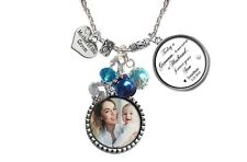 Mother of the Groom Necklace with Photo & Personalized Quotes - Wedding Gift
