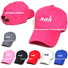 Nah Embroidered Hat Baseball Cap Polo Style Cotton Unconstructed Hats caps