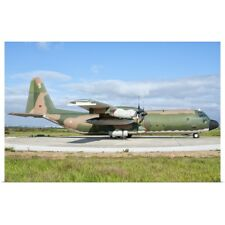 Poster Print Wall Art entitled A Portuguese Air Force C-130H Hercules at Montijo