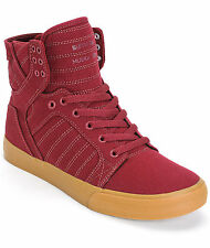 Supra Skytop Chad Muska Cardinal Embossed or Burgundy/Gum Stash Pocket Shoes