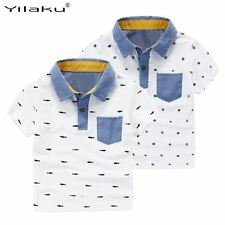 2017 Summer Boys Short Sleeve T-Shirts for Children Printed T Shirt Kids Tops Te