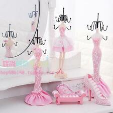 Pink Mixed Styles Shoe Dress Mannequin Jewelry Organizer Display Stand Hanging