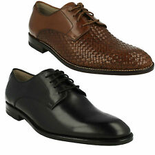 TWINLEY LACE MENS CLARKS FORMAL WOVEN LACE UP LEATHER PARTY DRESS SHOES SIZE
