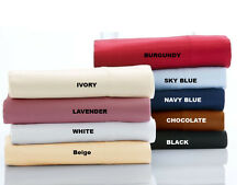 1000TC Egyptian Cotton 4PC Bedding Sheet Set Full Size Only Solid Colors