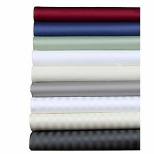 1000TC Egyptian Cotton 4PC Bedding Sheet Set Full Size SolidStriped Colors