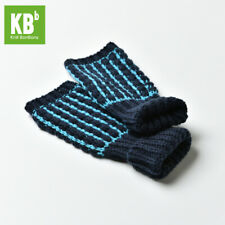 Variety of Colors for Fashionable Winter Soft Stripes Knitted Fingerless Gloves