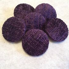 Purple Chenille Buttons, 16mm, 20mm, 25mm, 31mm, Small, Medium & Large