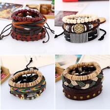 Vintage Cool Punk PU Leather Wristband Jewelry Bracelet Adjustable Strap Bangle
