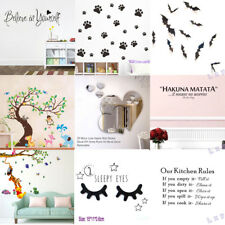 DIY Removable Art Vinyl Quote Wall Sticker Decal Mural Home Room Decor