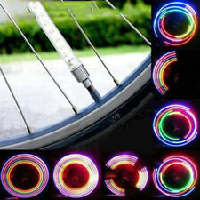 4PCS Bicycle Wheel Tire Valve Spoke 32 Changes Neon Cap 5 LED Lights Lamp New